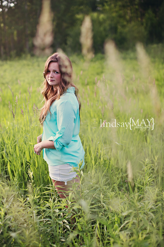 girl in Bloomington, Minnesota field